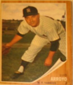 MLB - Original Baseball Card 1962 NY Yankees P Luis Arroyo