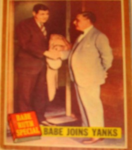 MLB - Original Baseball Card 1962 NY Yankees featuring Babe Ruth and Yanks Owner Jacob Ruppert the day Babe became a Yankee