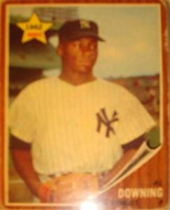 MLB - Original Baseball Card 1962 World Champion New York Yankees All Star Pitcher Al Downing