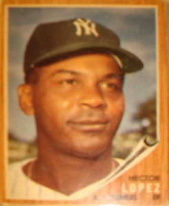 MLB - Original Baseball Card 1962 World Champion New York Yankees OF Hector Lopez