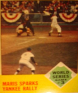 MLB - Original Baseball Card 1962 World Series NY Yankees RF Roger Maris's HR that sparks Game 6 win
