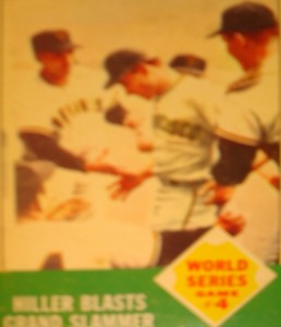 MLB - Original Baseball Card 1962 World Series SF Giants 2B Chuch Hiller's Grand Slam HR for Game 4 win