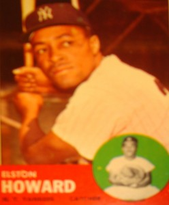 MLB - Original Baseball Card 1963 NY Yankees C Elston Howard