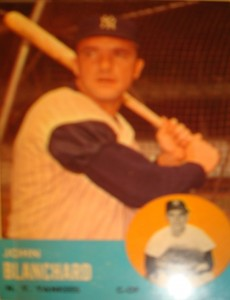 MLB - Original Baseball Card 1963 NY Yankees OF Johnny Blanchard
