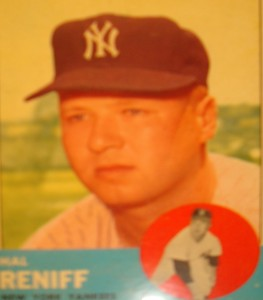MLB - Original Baseball Card 1963 NY Yankees P Hal Reniff