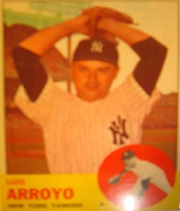 MLB - Original Baseball Card 1963 NY Yankees P Luis Arroyo