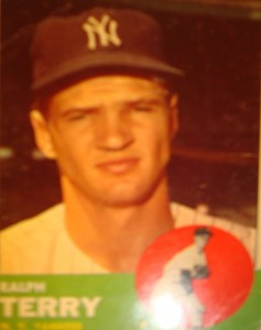 MLB -Original Baseball Card 1963 NY Yankees P Ralph Terry
