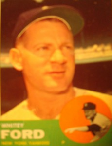 MLB - Original Baseball Card 1963 NY Yankees P Whitey Ford