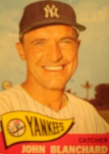 MLB - Original Baseball Card 1965 New York Yankees C John Blanchard