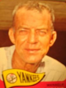 MLB - Original Baseball Card 1965 New York Yankees Manager Johnny Keane