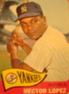 MLB - Original Baseball Card 1965 New York Yankees OF Hector Lopez