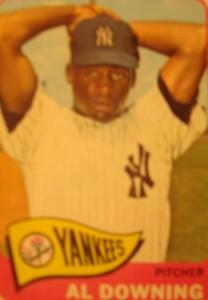 MLB - Original Baseball Card 1965 New York Yankees P Al Downing