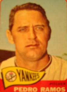 MLB - Original Baseball Card 1965 New York Yankees P Pedro Ramos