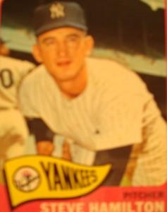 MLB - Original Baseball Card 1965 New York Yankees P Steve Hamilton