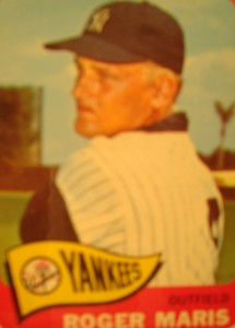 MLB - Original Baseball Card 1965 New York Yankees RF Roger Maris