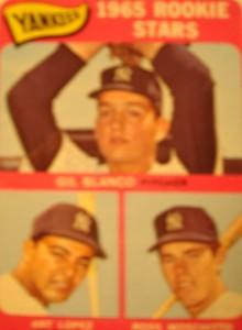 MLB - Original Baseball Card 1965 New York Yankees Rookie Stars P Gil Blanco, OF Art Lopez & Ca John Blanchard