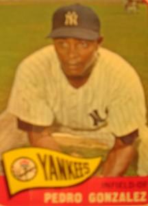 MLB - Original Baseball Card 1965 New York YankeesOF Pedro onzalez