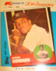 MLB - Original Baseball Card of 1963 American League MVP New York Yankees C Elston Howard as presented by Kmart