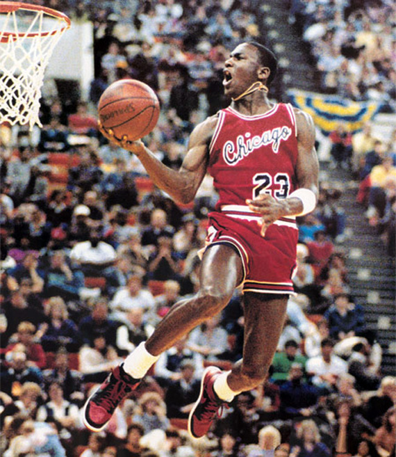 NBA – 1985 – All Star Game Halftime – Old Timers Game + Slam Dunk Contest –  Jordan + Wilkins + Dr J 8141cc80d4