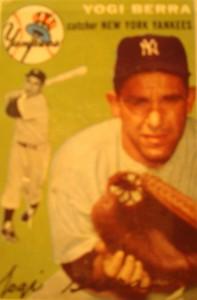 Original Baseball Card 1954 NY Yankees C Yogi Berra