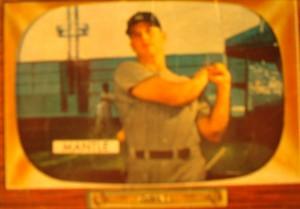 Original Baseball Card 1955 NY Yankee CF Mickey Mantle