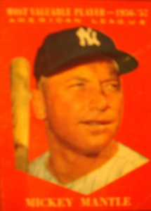 MLB - Original Baseball Card 1956 Topps American League MVP New York Yankees CF Mickey Mantle