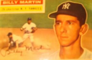 Original Baseball Card 1956 NY Yankee 2B Billy Martin