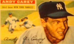 Original Baseball Card 1956 NY Yankee CF Mickey Mantle