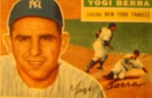 Original Baseball Card 1956 NY Yankee C Yogi Berra