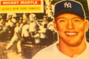 Original Baseball Card 1956 NY Yankee CF Mickey Mantle