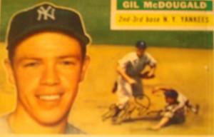 Original Baseball Card 1956 NY Yankees SS Gil McDougal