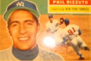 Original Baseball Card 1956 NY Yankees SS Phil Ruzzoto