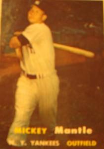 Original Baseball Card 1957 NY Yankee CF Mickey Mantle