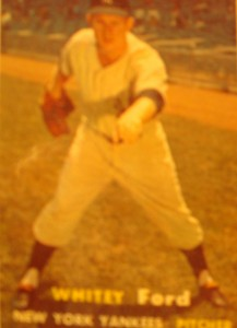 Original Baseball Card 1957 New York Yankees P Whitey Ford