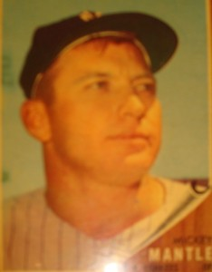 Original Baseball Card 1962 NY Yankees CF Mickey Mantle