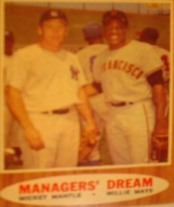 MLB - Original Baseball Card 1962 World Series opponents Yankees CF Mickey Mantle & Giants CF Willie Mays