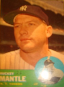 Original Baseball Card 1963 NY Yankees CF Mickey Mantle