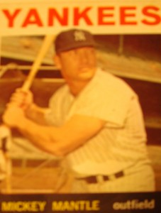 Original Baseball Card 1964 NY Yankees CF Mickey Mantle