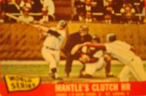 Original Baseball Card 1964 World Series Game 6 w/ Mantle's HR