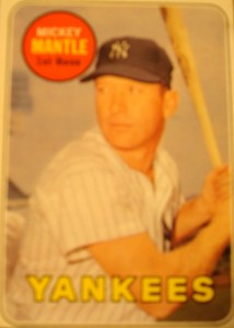 MLB - Original Baseball Card 1969 New York Yankees CF Mickey Mantle
