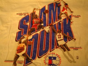Official T-shirt 1989 NBA All Star Weekend Slam Dunk Competition