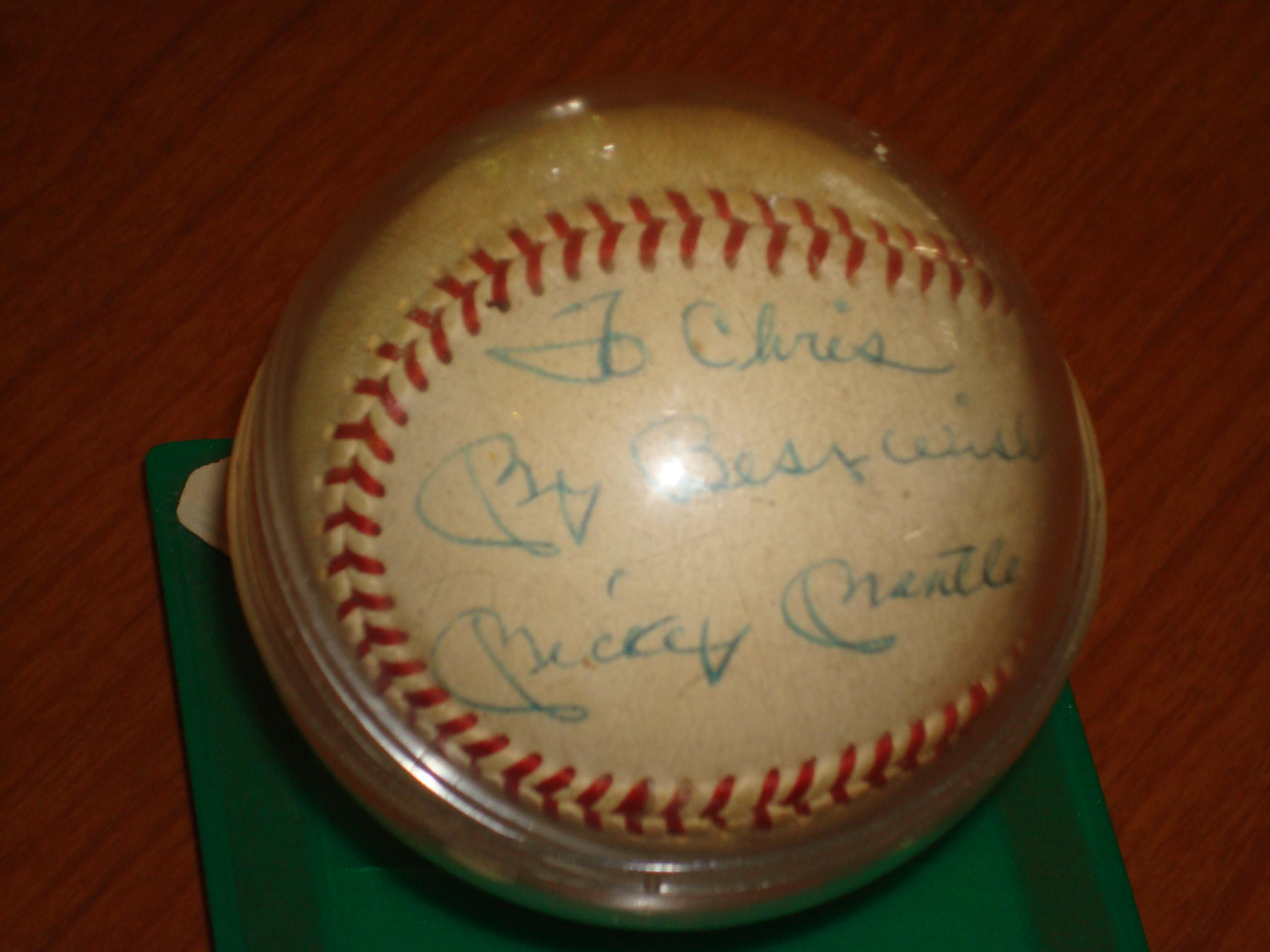 1956 Autographed  Mickey Mantle Ball - MVP Season