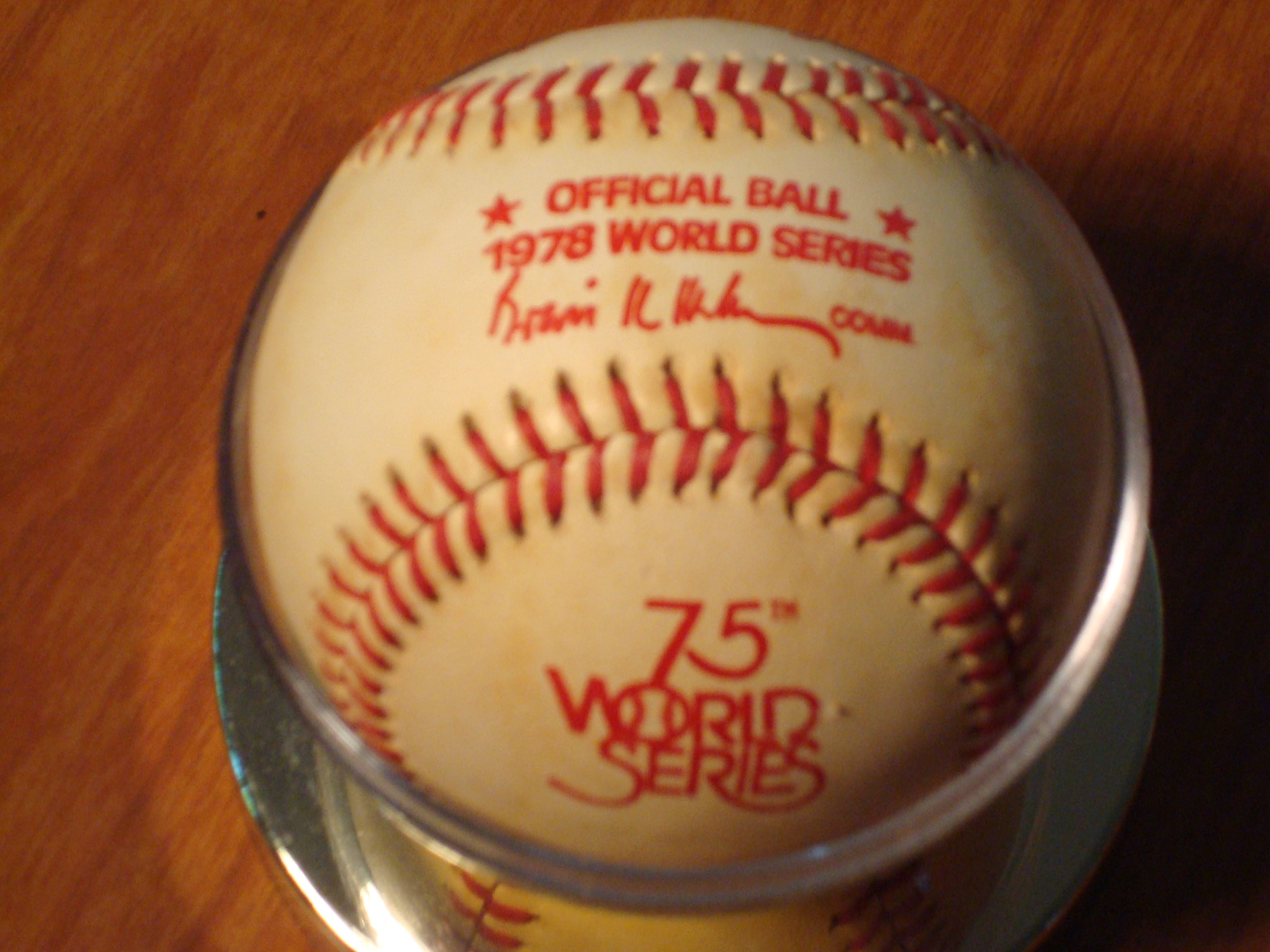 1978 Official World Series Ball - NY Yanks Champs