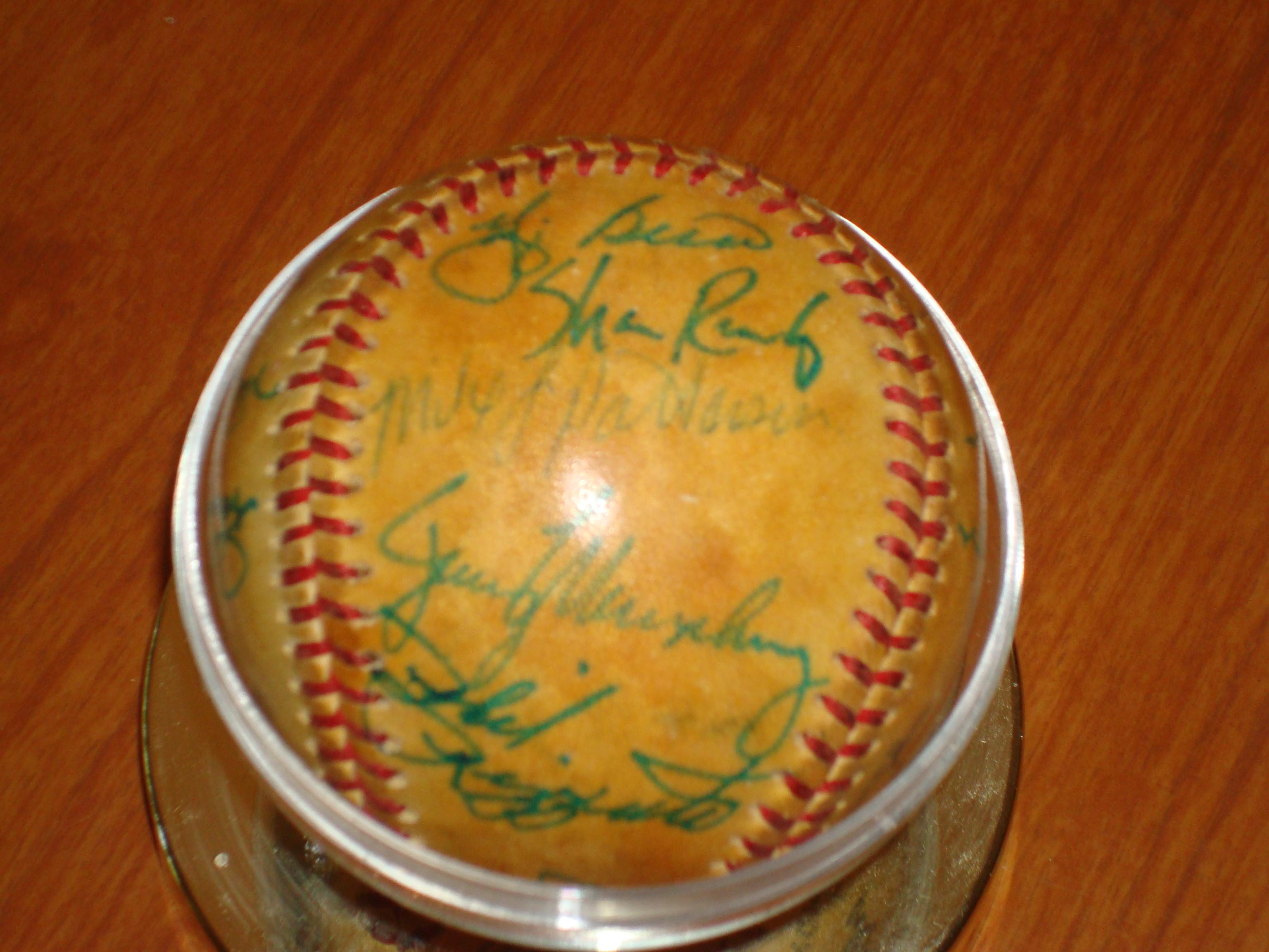 1978 World Champion New York Yankee Autographed Team Ball - Yogi Berra, Phil Rizzuto, Shane Rawley
