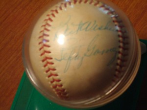 Original 1953 Rawlings Autograph Baseball of MLB Hall of Fame New York Yankee P Lefty Gomez who retired with the following career highlights: 7 x All Star appearances (1933 - 1939) / 5 x World Series champion (1932, 1936 - 1939) / 2 x Triple Crown Winner (1934, 1937) / 2 x AL Wins Leader (1934, 1937) / 2 x AL ERA Leader (1934, 1937) / 3 x AL Strikeout Leader (1933, 1934, 1937) / Inducted into MLB Hall of Fame (1972)