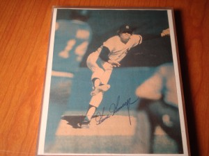 Original 1978 Autograph Picture by MLB World Champion New York Yankees Hall of Fame Pitcher Goose Gossage