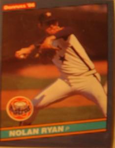 Original Baseball Card 1986 Donruss MLB Houston Astros Pitcher Nolan Ryan