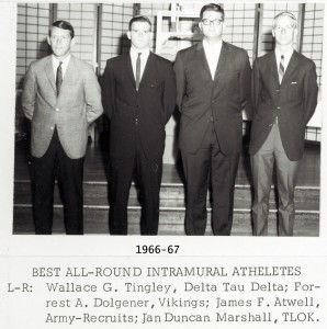 1966-67 UT Intramural Wall of Fame Best All Around Athletes