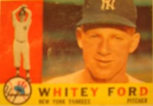 Original Baseball Card 1960 Topps NY Yankees P Whitey Ford