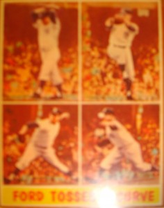 Original Baseball Card 1961 NY Yanks P Whitey Ford wins Gme 4 of World Series w/ a shutout
